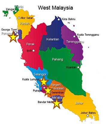 malaysia map travel