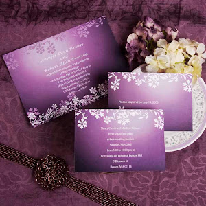 Cheap Purple Wedding Invitations