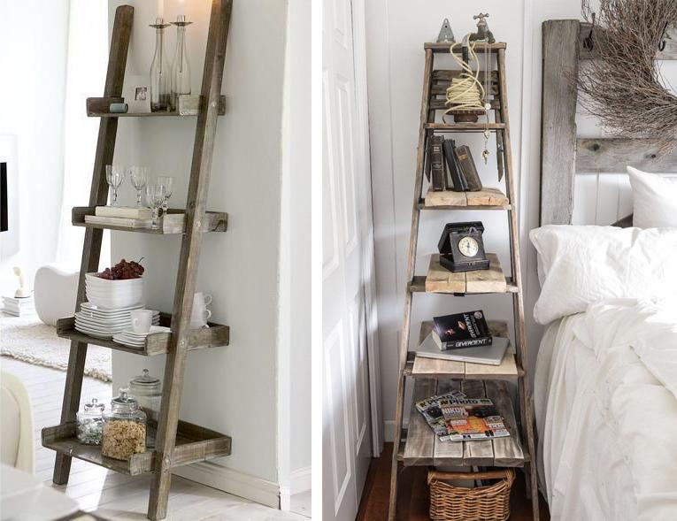 C mo reciclar antiguas escaleras de madera espacios en madera for Como decorar una escalera de madera