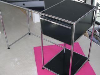 Petit bureau USM laqué noir Vintage