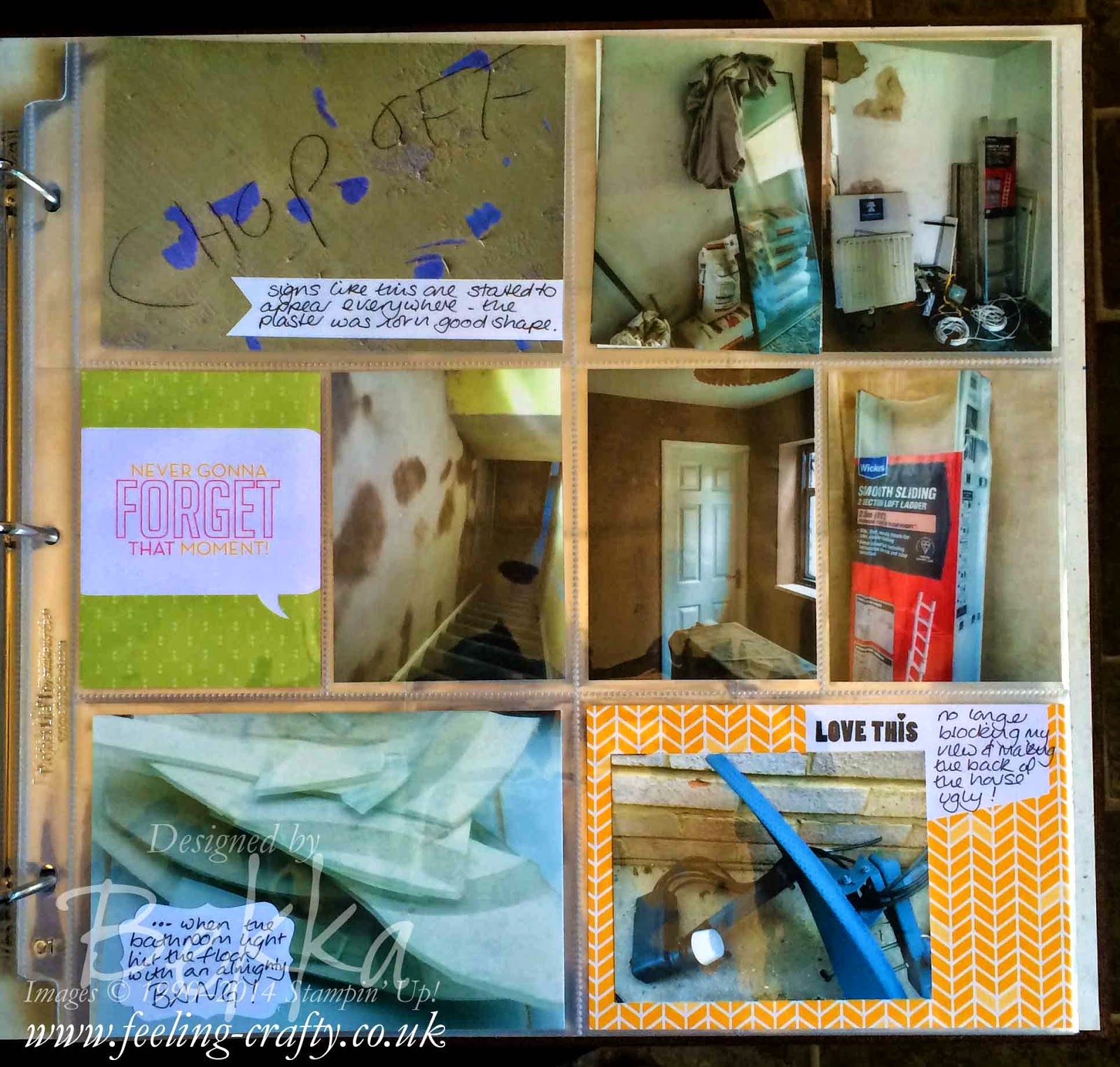 Project Life by Stampin' Up! Pages showing Bekka's House renovation project - check it out here