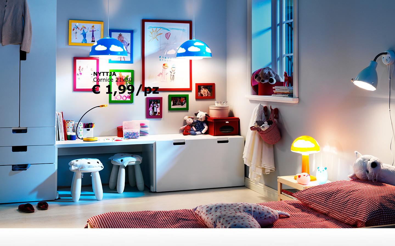 Camerette soppalco con 2 letti e scrivania incastrata - Ikea lampadario camera bambini ...