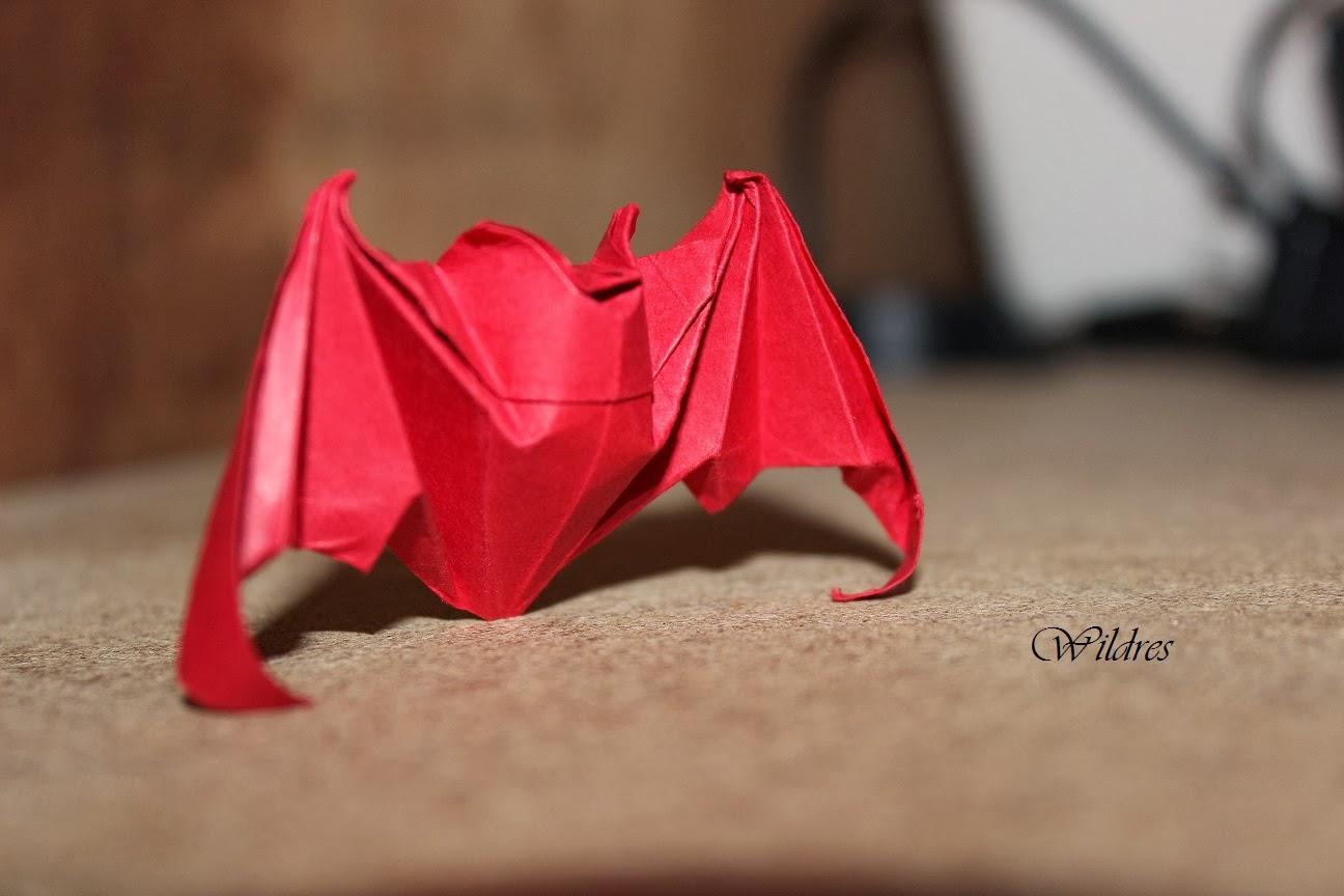 Wildres: Origami Fledermaus