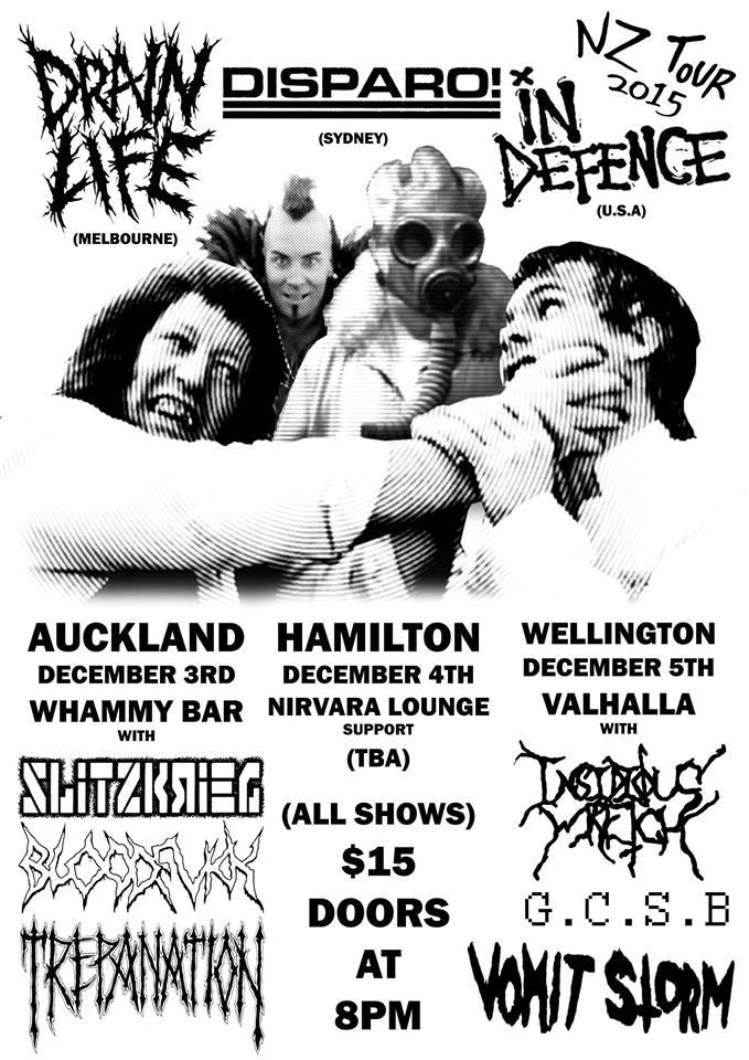 Drain Life NZ Tour
