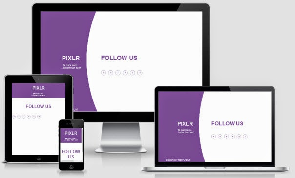 Pixlr Responsive Coming Soon Page Blogger Template