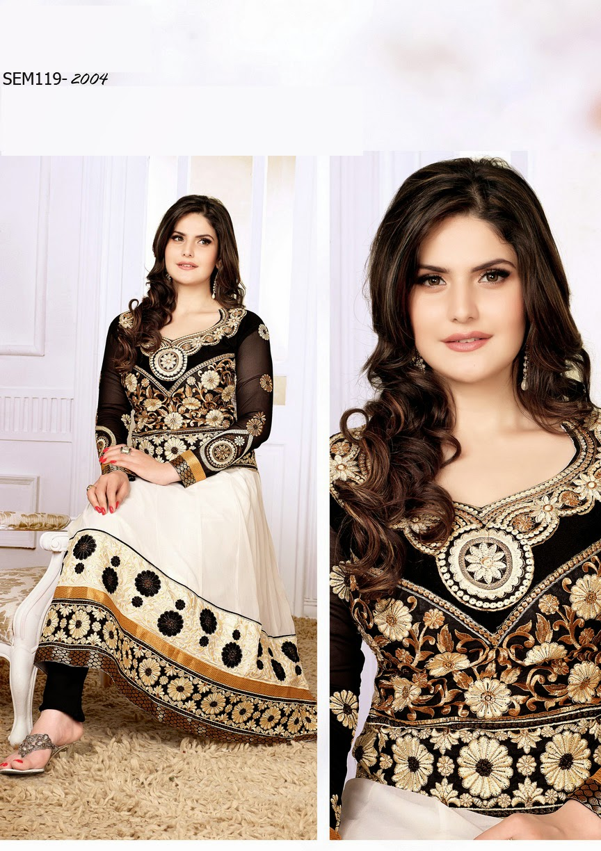 Zarine Khan In White Dress Zarine khan georgetteZarine Khan In White Dress