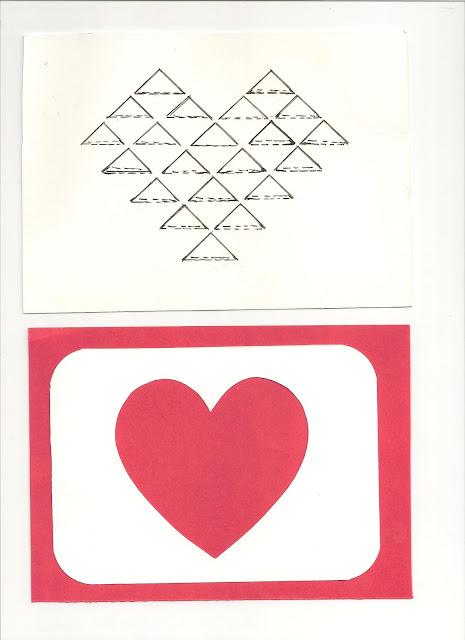DIY handmade Diamond Folded card for Valentine's day