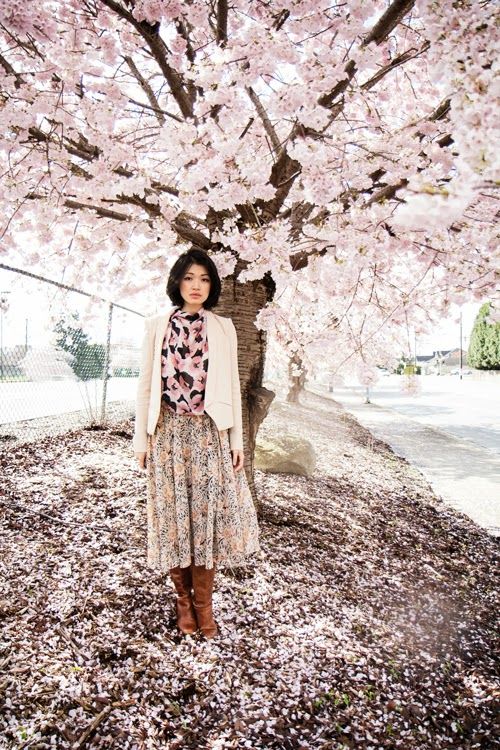 Vancouver Cherry Blossoms, Cherry Blossom Festival, Cherry Blossoms, vancouver fashion blogger spring outfit