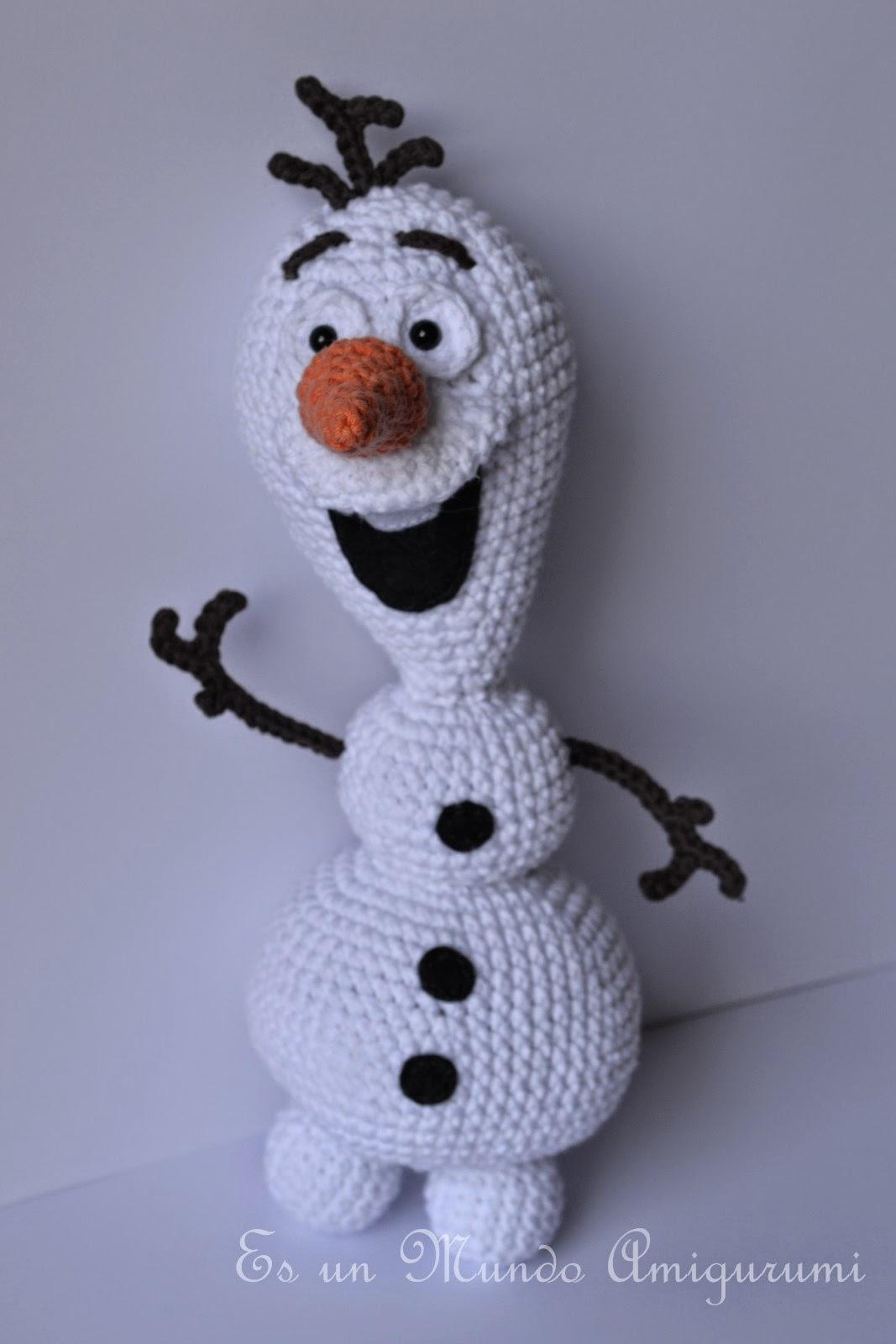 Crochet Doll Cradle Purse Pattern : Es un Mundo Amigurumi: Olaf Amigurumi...