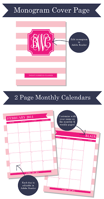 New 2014 Printable Planners