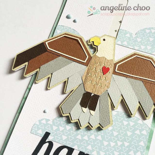 ScrappyScrappy: Soaring Eagle birthday card #svgattic #scrappyscrappy #birthday #eagle #card