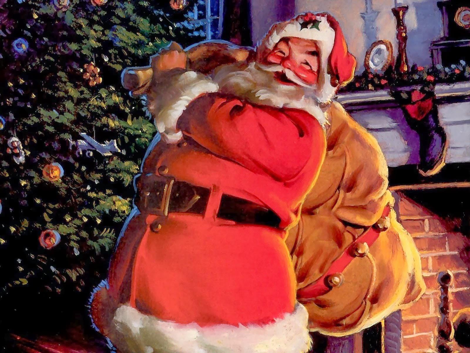 Santa Christmas Cards for Kids - Merry Christmas Ecards