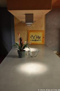 Beton Cire Küchenarbeitsplatte