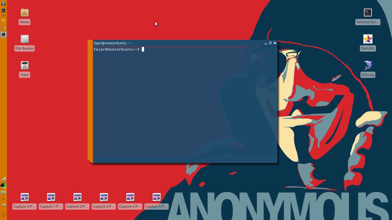 Ini contoh desktop saya