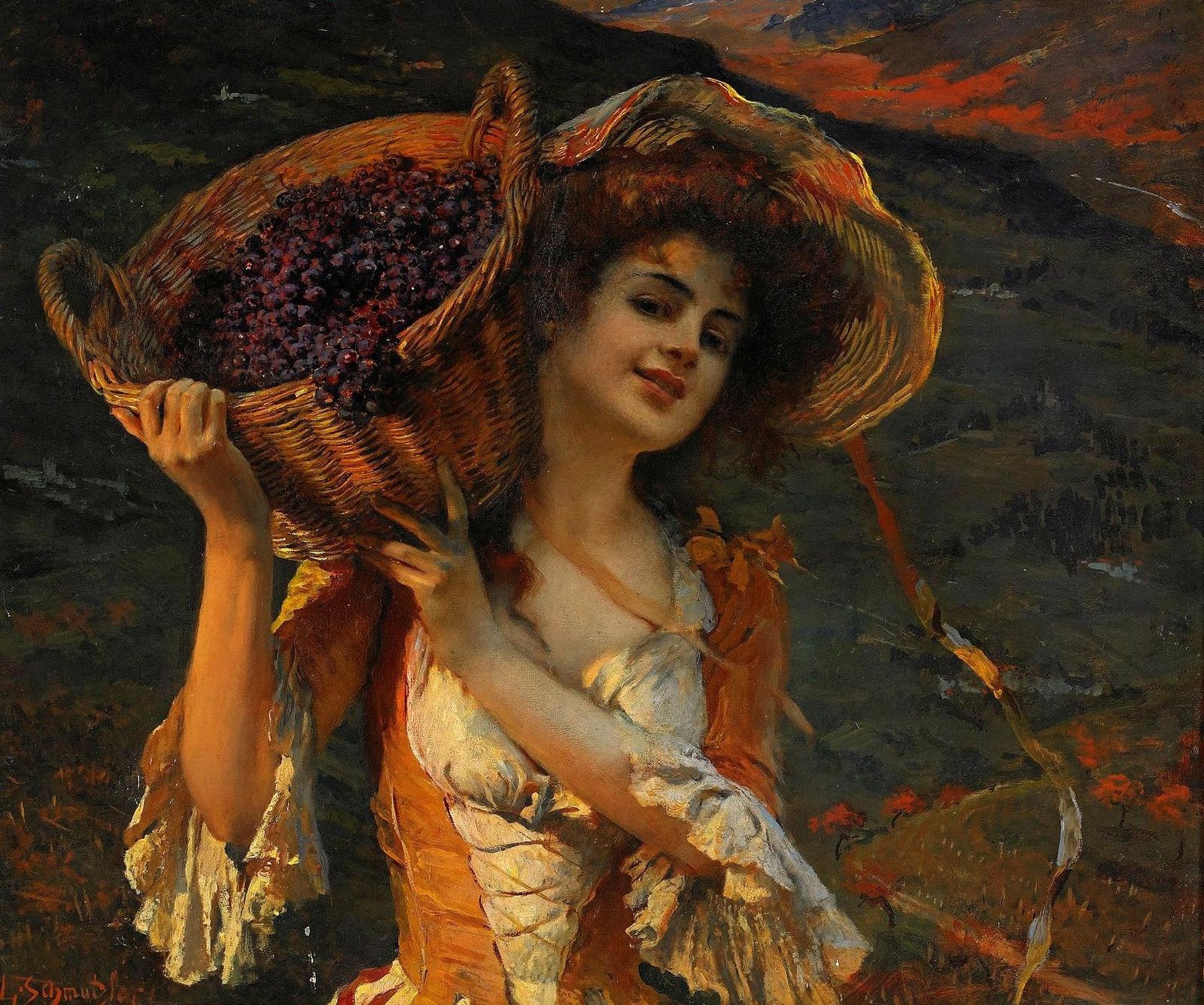 время приседаний девушка и виноград картина лучше понять какое