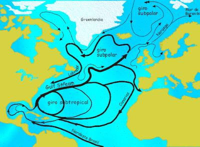 Cambio direzione correnti Oceano Atlantico