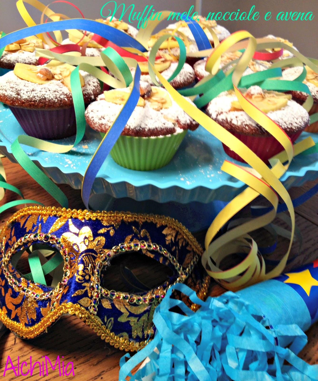 torta di mele, nocciole e avena (versione carnival muffin)