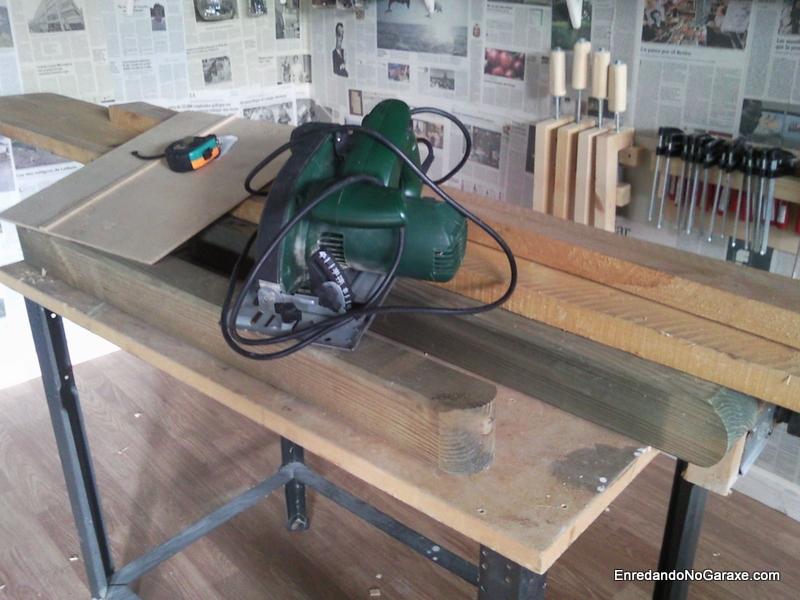 Materiales para la estructura de la mesa de taller, www.enredandonogaraxe.com