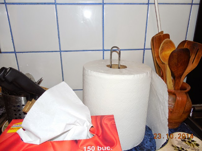prosoape de hartie in bucatarie