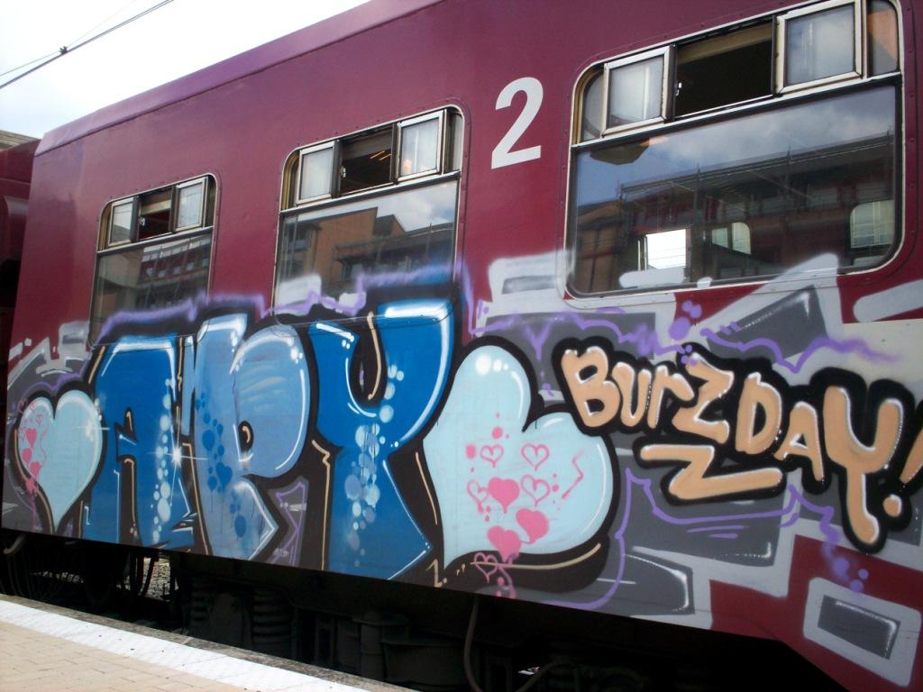 Happy Birthday Princess ! Art On Trains