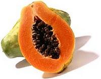 Papaya en forma de vulva
