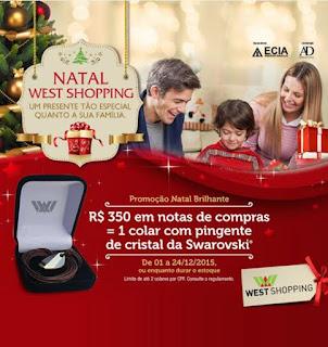 West Shopping premiará clientes com Cristais da Swarovski® no Natal