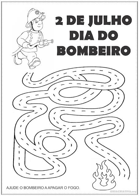 Atividade Dia do Bombeiro Labirinto