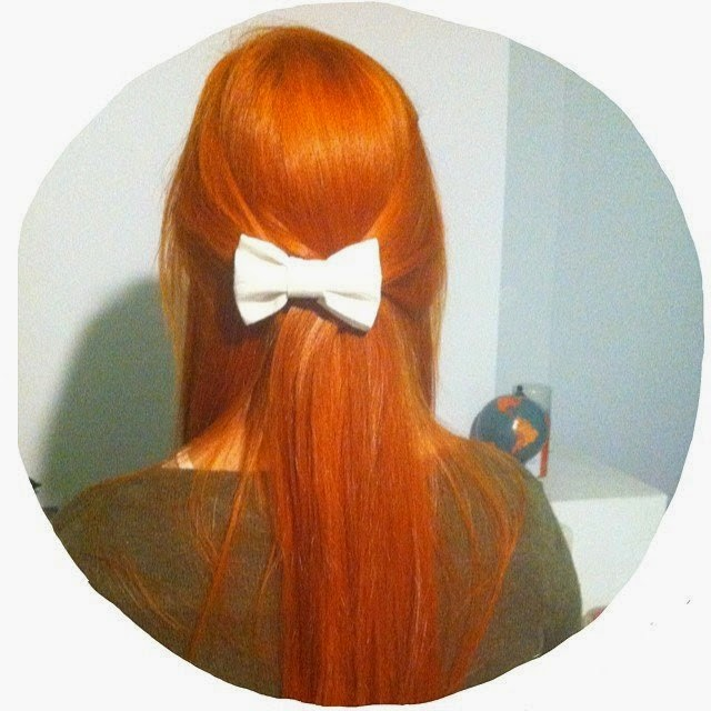 hair style peinados bow lazos pasadores naif cute cool red hair pelirroja