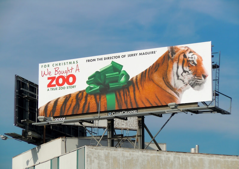 We Bought a Zoo tiger billboard