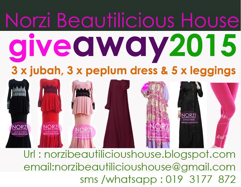 Giveaway 2015 Jubah, dress , leggings oleh Norzi Beautilicious House