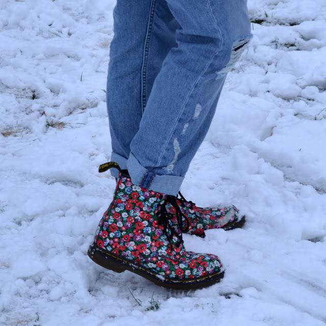 flower Doc Martens boots