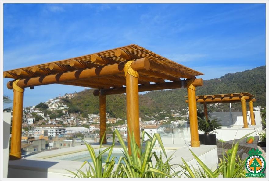 Productos maderables de cuale diciembre 2015 for Materiales para cubrir pergolas
