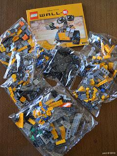 lego wall-e: all the bags