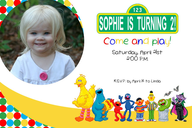 Sesame Street Invite is great invitation layout