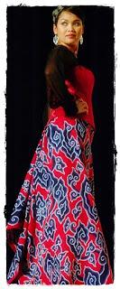 Model gaun batik
