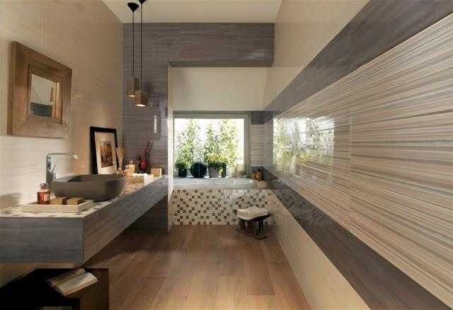 Azulejos Baño Modernos Porcelanosa:En la decoración de un baño estilo moderno los azulejos deben crear