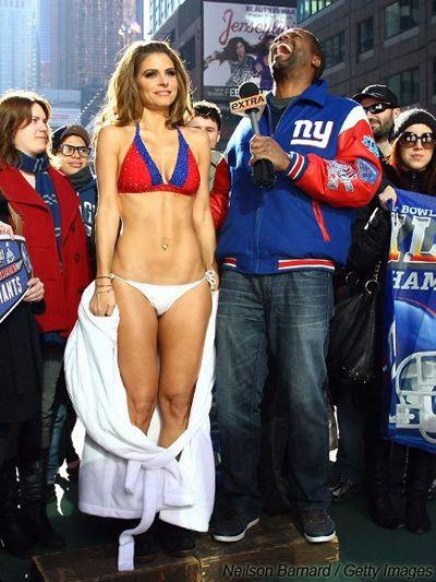 Maria Menounos Loses Bet Wears Giants Bikini In Times Square. INSTANT PANTS TENT.  sc 1 st  Masshole Sports & Masshole Sports: Maria Menounos Loses Bet Wears Giants Bikini In ...