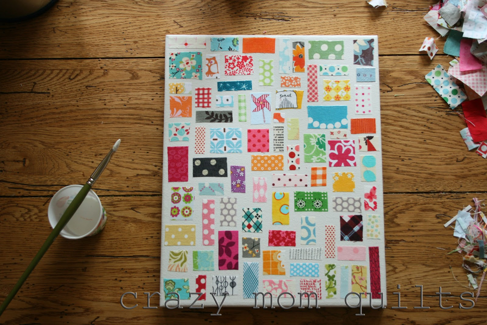 crazy mom quilts: how to make a ticker tape on canvas : ticker tape quilts - Adamdwight.com