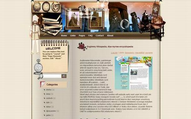 Free Oldies Story Brown Blogger Theme Template