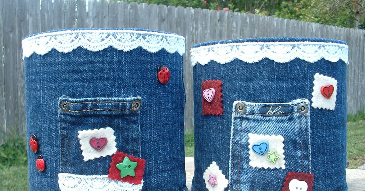 Gone Crafting Coffee Cans And Old Blue Jeans