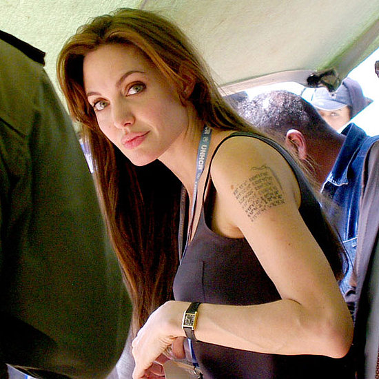 Pictures Angelina Jolies New Tattoo Libya