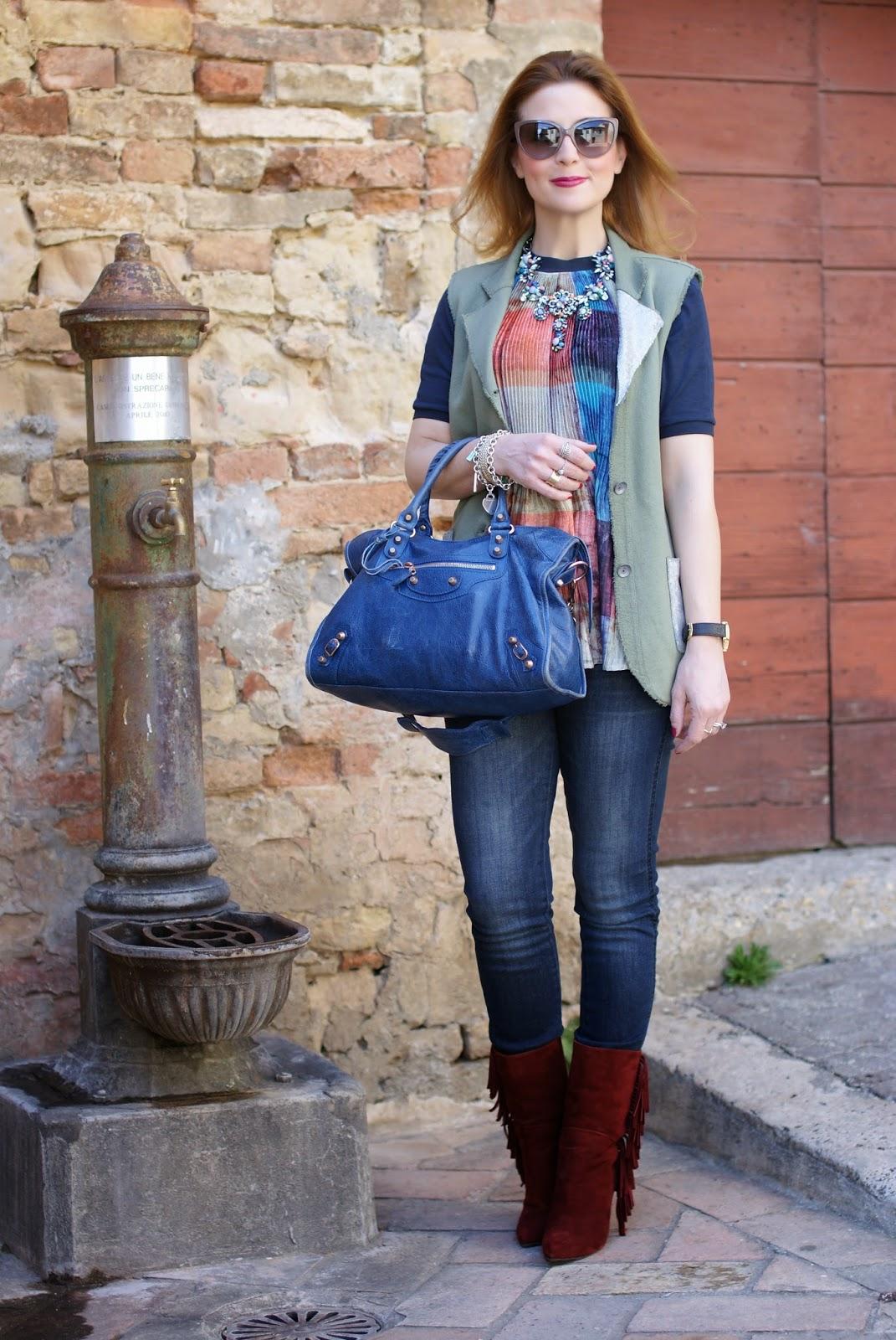 Praio, Praio sleeveless jacket, Balenciaga City, Fashion and Cookies, fashion blogger