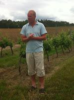 Domaine de la Rogère Michiel in de wijngaard