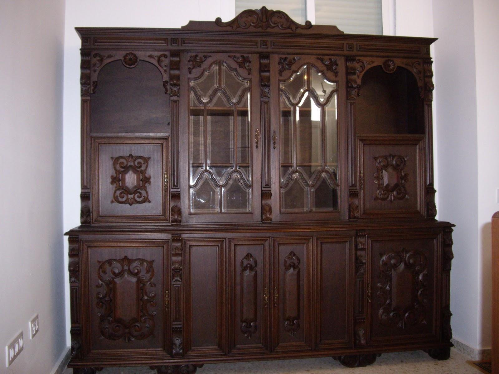 Antiguedades muebles de salon antiguo con mesa de comedor - Muebles de salon antiguos ...