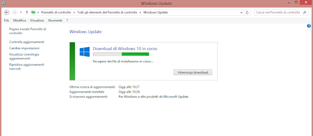 Come forzare aggiornamento Windows 10