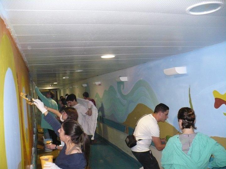 פרויקט מסדרון הילדים בבית החולים הדסה עין כרם באורך של 110 מטרים