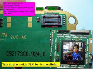 nokia 5130 lcd problem