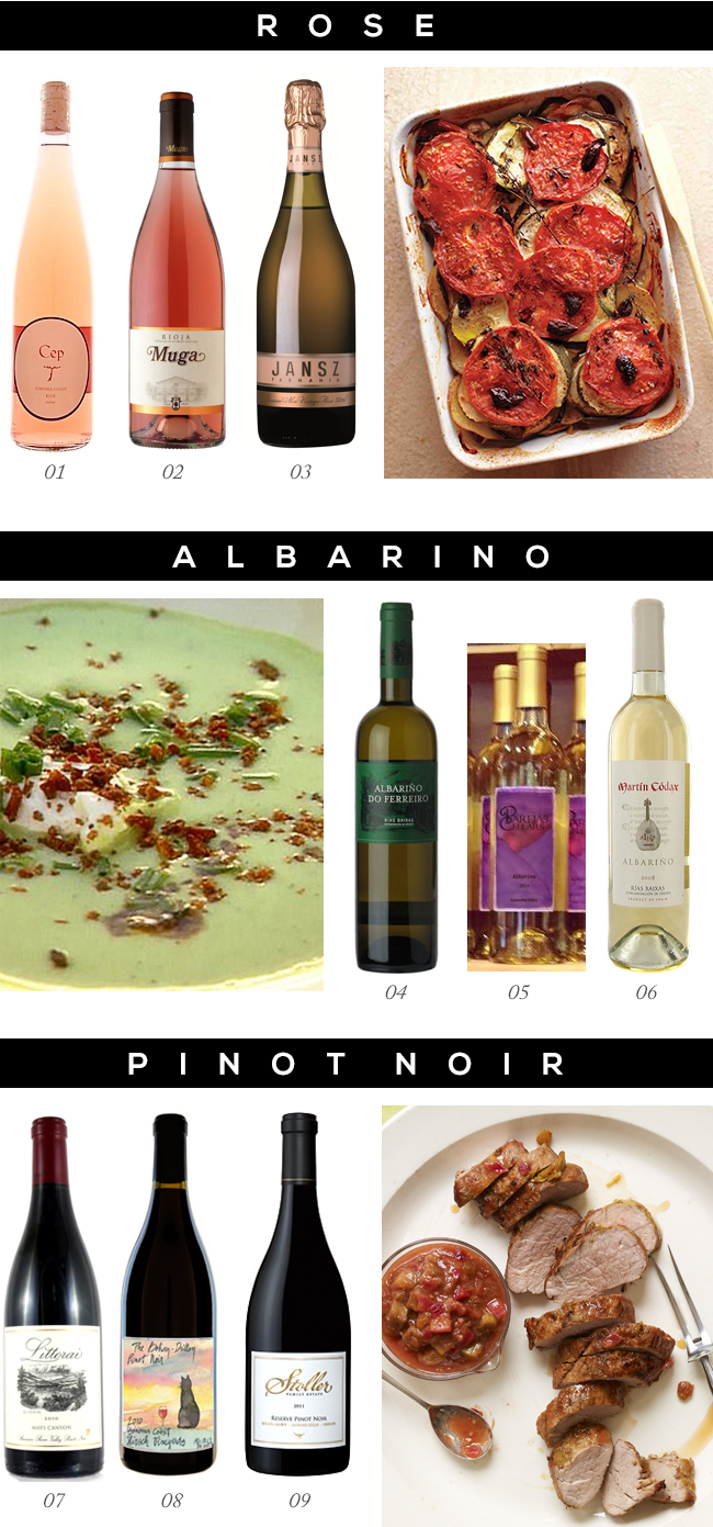 Pairing Spring Wines with Spring Recipes // Bubby and Bean