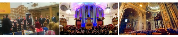 KIconcerts - World Choir Games, Riga - Central Hall Westminster, London - St Peter's Basilica, Rome