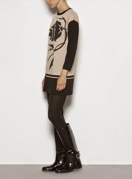 Vestido mini estampado de punto